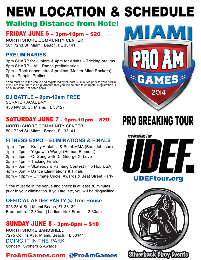 MiamiProAm 2014 - Schedule
