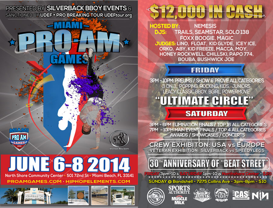 MiamiProAm-Bboy-Flyers-2014